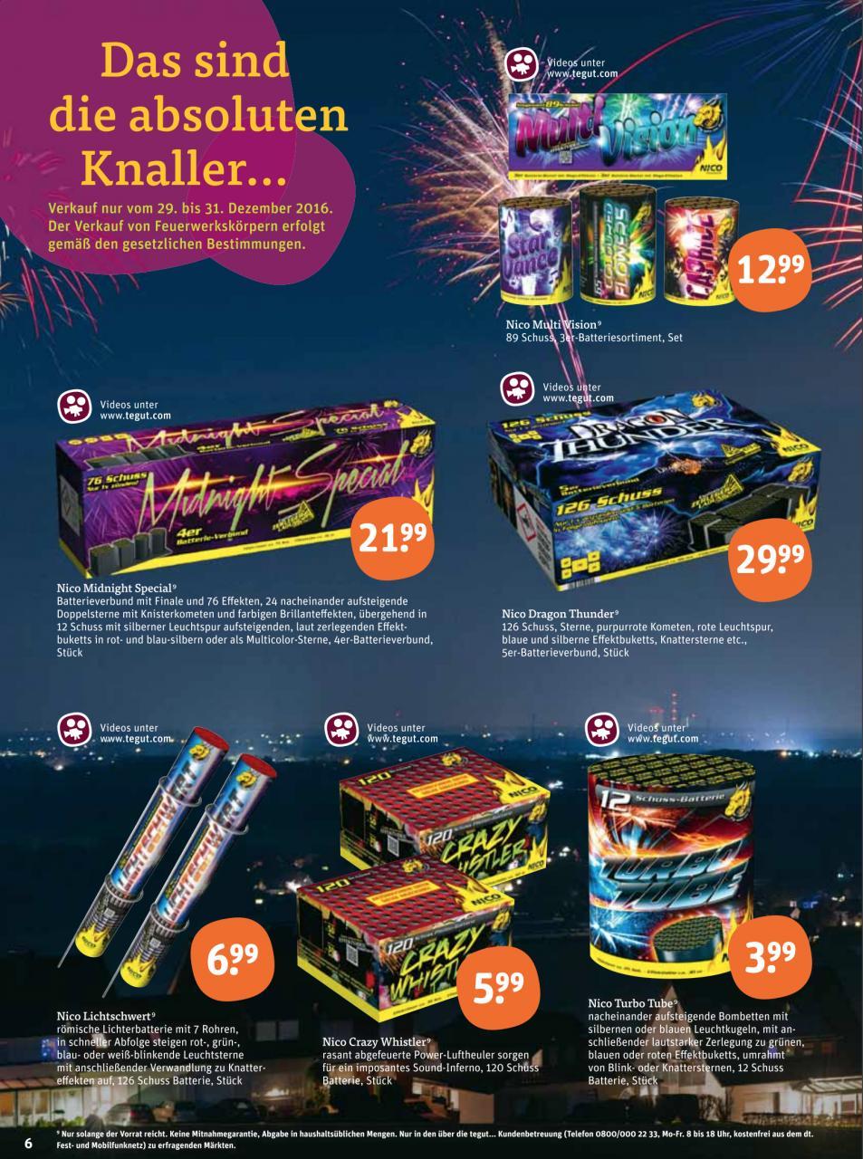 Tegut Feuerwerk