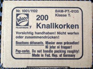 Weco Knallkorke Display Etikett.JPG