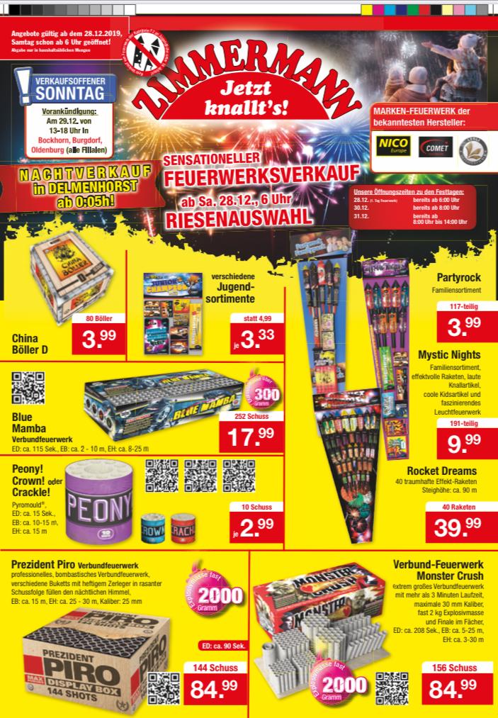 Zimmermann Feuerwerk